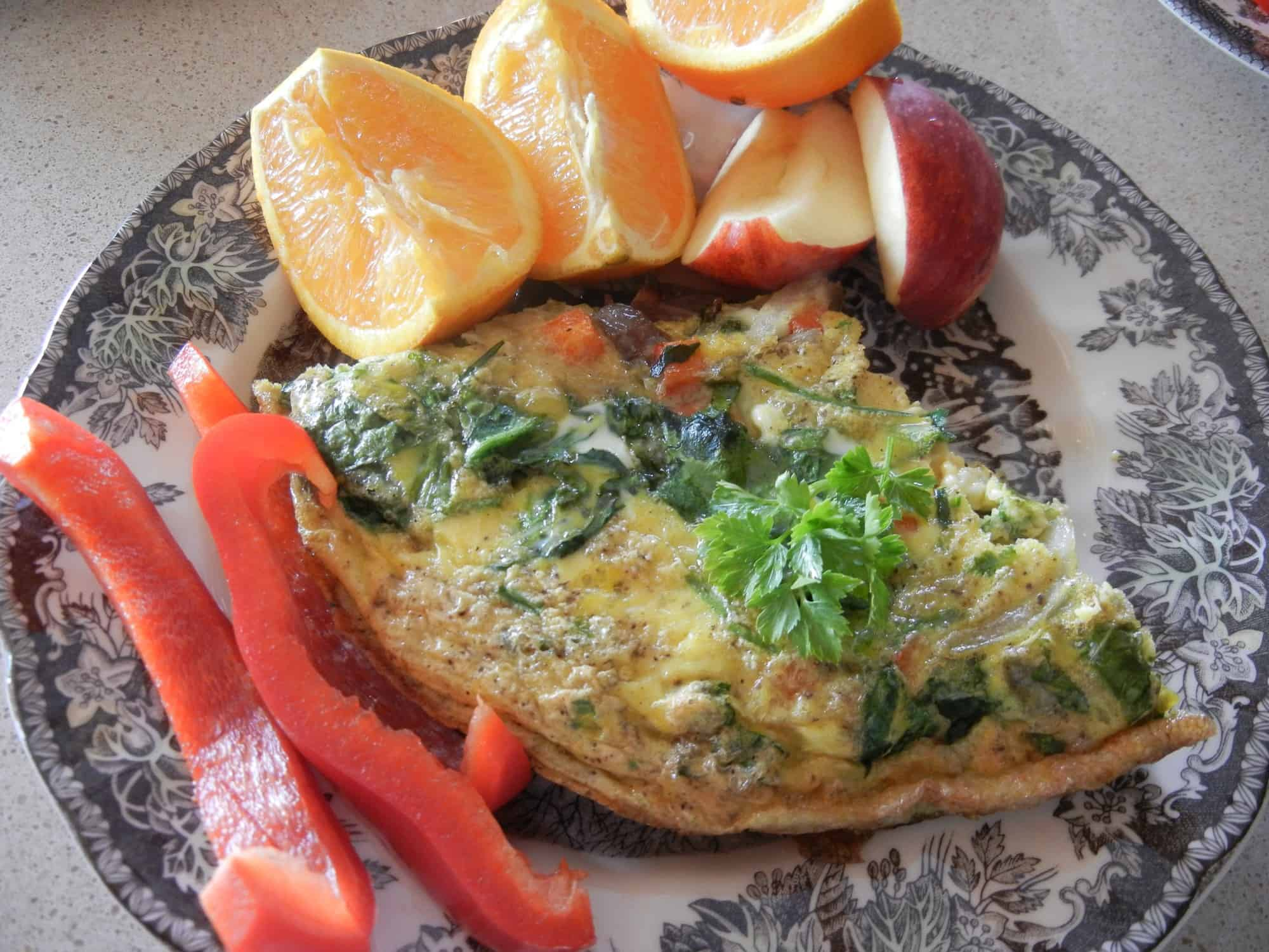 Cast Iron Skillet Frittata: Quick and Easy. Slice of frittata, Italian omelet