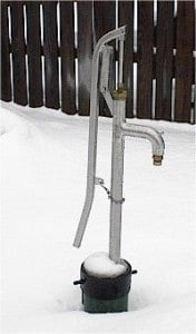 Fresh Water Without Electricity - Bison Hand Pump. off grid, non-electric water source