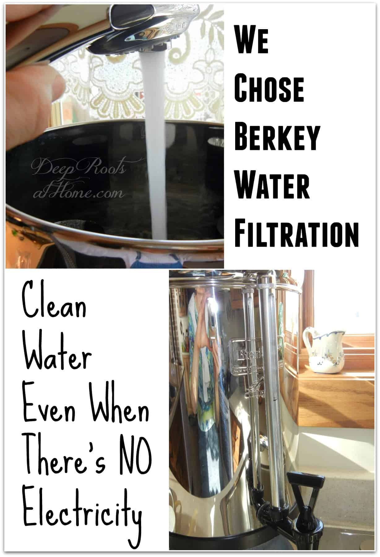 Fluoride-Free Water Even If There's NO Electricity: We Chose the Berkey. The Royal Berkey water filter.