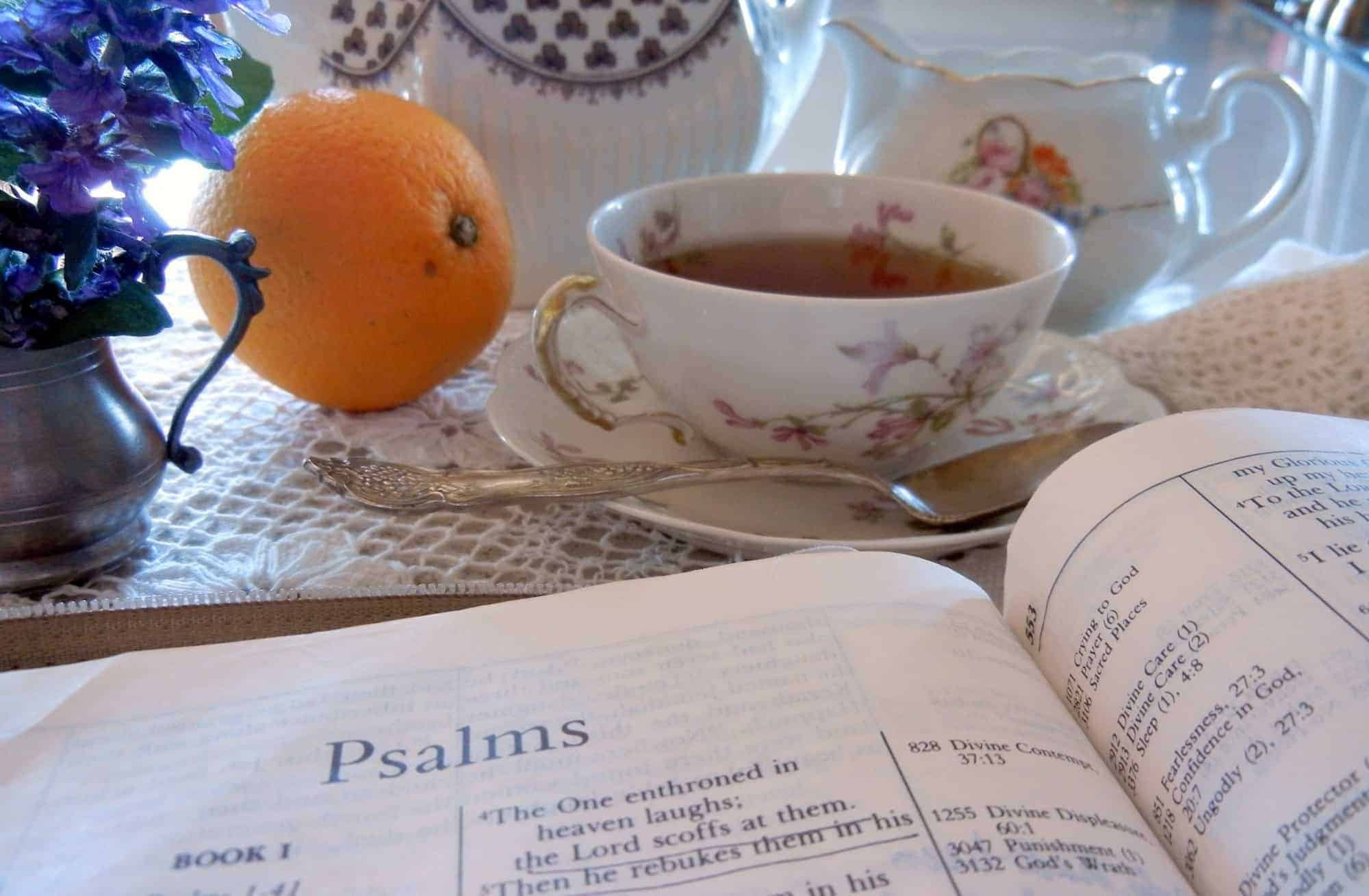 morning tea and prayer