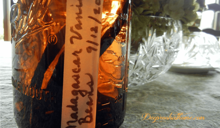 Make Vanilla Extract For Holiday Baking & All Year Round. Vanilla bean pods soaking in vodka