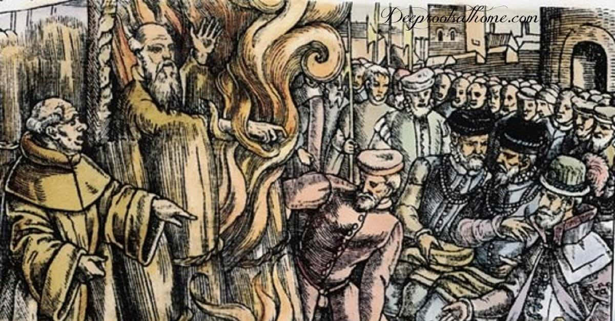 Thomas Cranmer Had the Last Word: His Cowardice & His Courage. burning at the stake