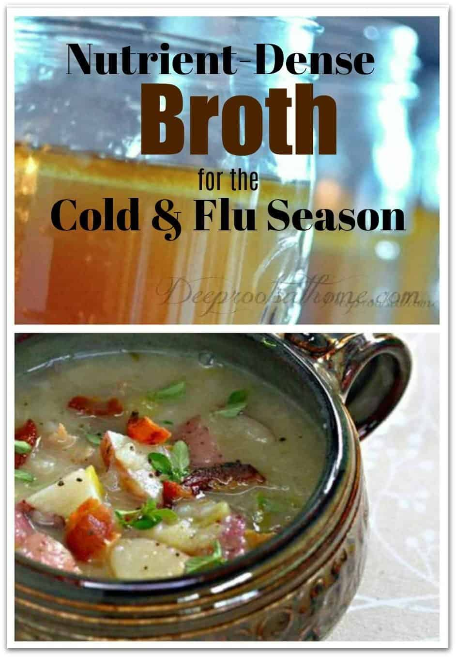 Beautiful Nutrient-Dense Broth For Cold & Flu Season. bottled homemade broth