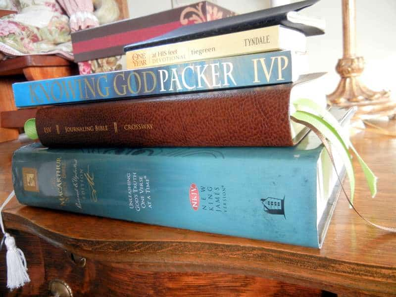 Bible, and J.I Packer's book Knowing God
