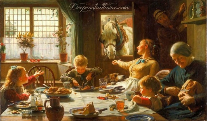 Family Mealtime: Lost Ingredient For Civilizing Children. A large family laughing together, sharing a meal