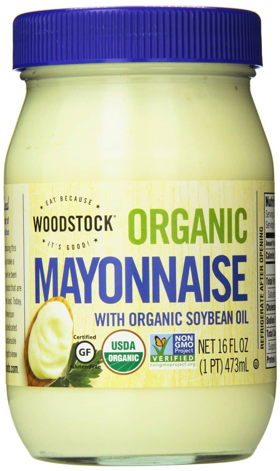 The Best Homemade Mayonnaise Ever, healthy mayo, creamy mayo for tuna salad, ham salad, chicken salad, yellow sauce, homemade blender sandwich spread, chemical free, additive free, Woodstock Farms Organic Mayo