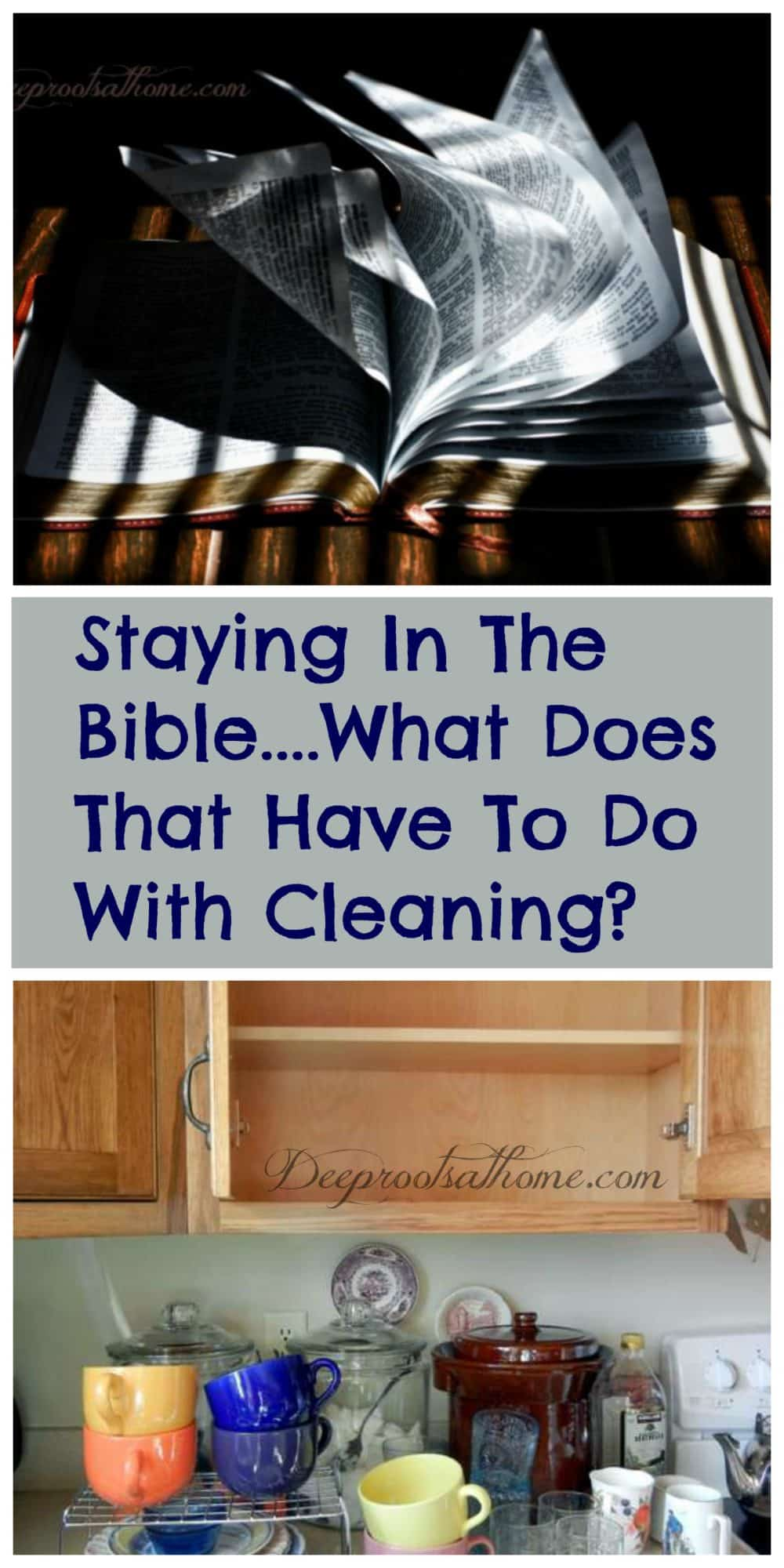 Bible In 90 Days...What Does That Have To Do With Cleaning?, cleaning closets and washing out cabinets