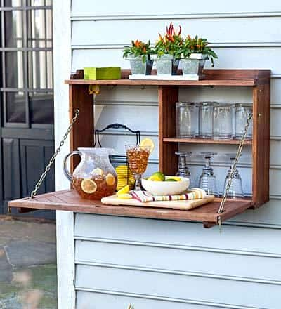 Creating Whimsy In Your Backyard & Garden, Part One. An outdoor storage unit/ wall storage