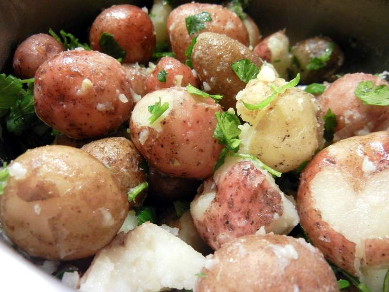 spring red skinned taters