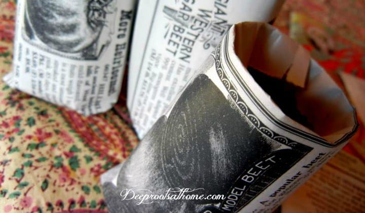 Easy To Make Your Own Little Newspaper Seedling Pots. Homemade newspaper seed starting pots