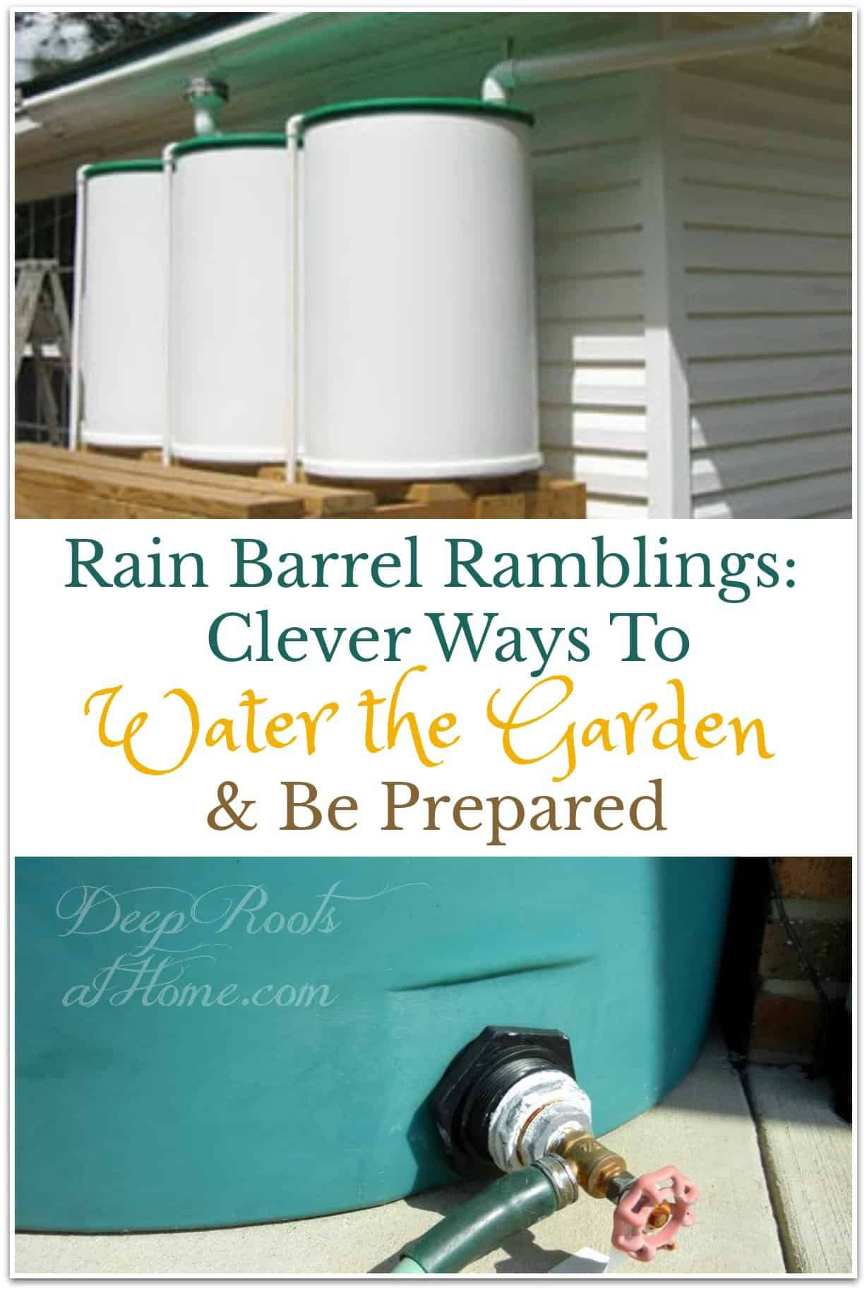 Rain Barrel Ramblings: Clever Ways To Water the Garden & Be Prepared. rain collection barrels