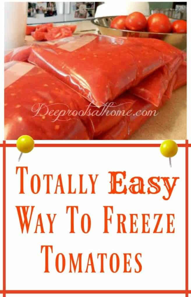 The Totally Easy Way To Freeze Diced Or Pureed Tomatoes, My method of home processed diced or pureed tomatoes for freezing.