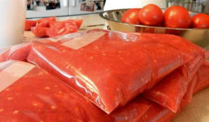 freeze diced tomatoes