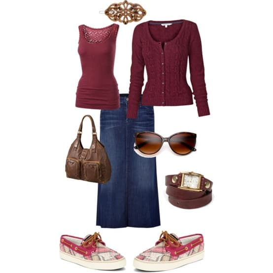 A Portrait Of Feminine Dress, Part 7 ~ Skirts and Flattering Shoes, strappy shoes, feminine, modest, with skirts, tights in the winter, leggings, flattering shoes for skirts, deck shoes, polyvore of modest and feminine clothing with accessories