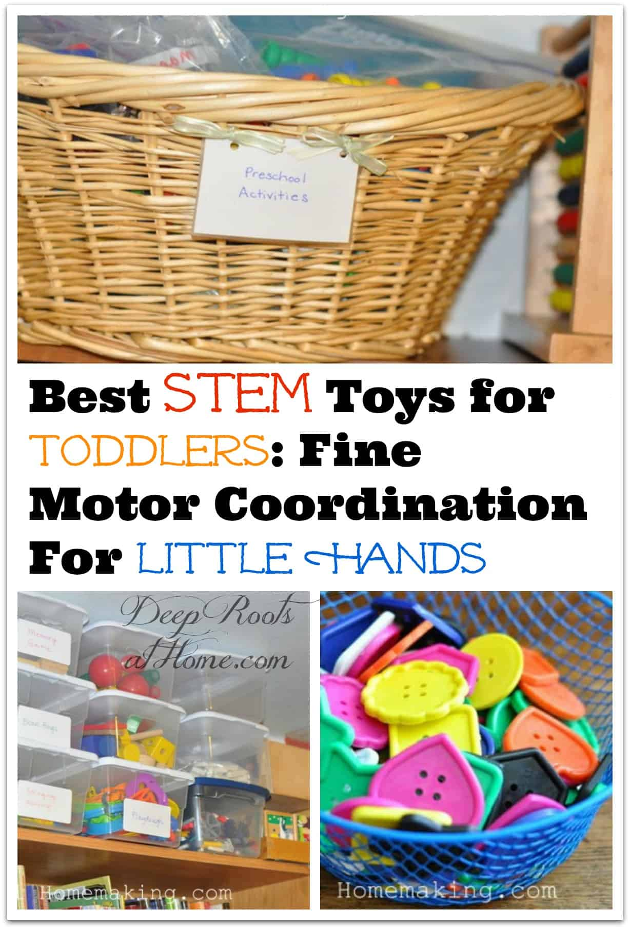 Best STEM Toys for Toddlers: Fine Motor Coordination For Little Hands. Preschool hand eye coordination activities and how to use and store them