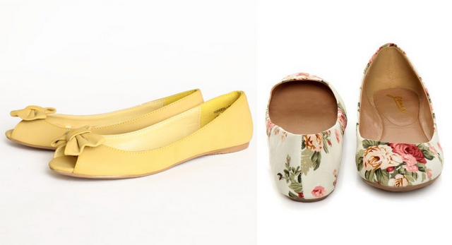 ballet flats and slip-ons