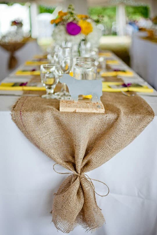 Simply Classic & Timeless Natural Holiday Decorations. simple burlap table setting