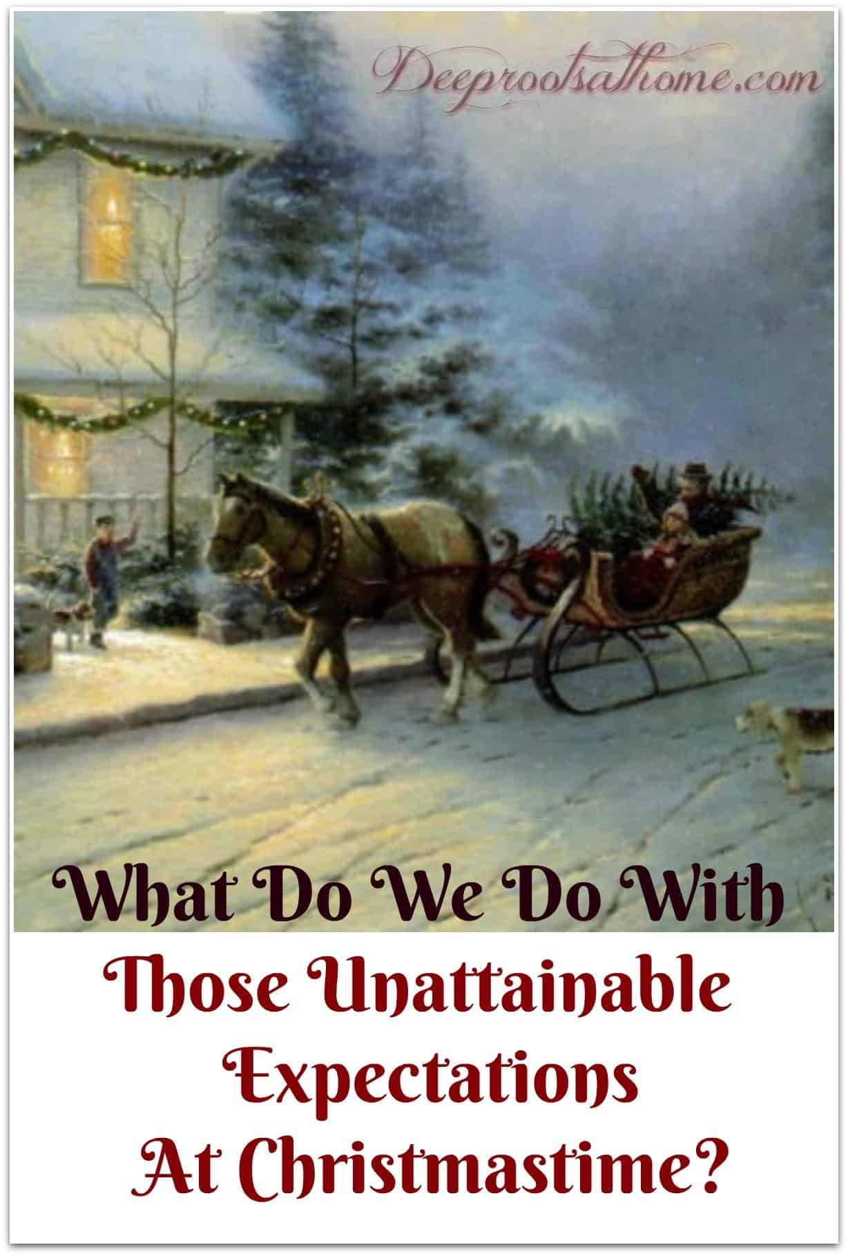 What Do We Do With Those Unattainable Expectations At Christmastime? sleigh ride