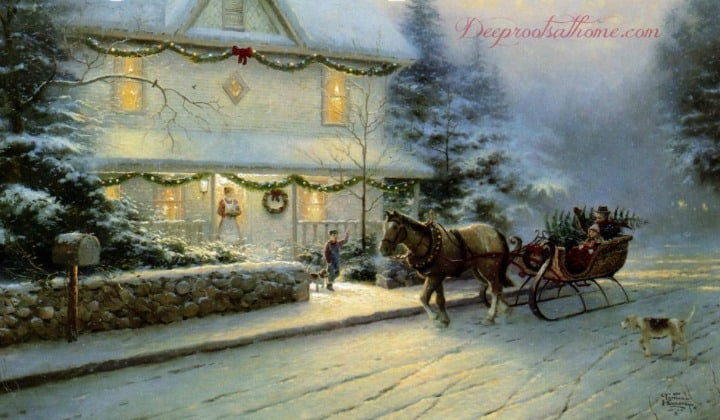 What To Do With Those Dangerous Expectations At Christmastime, crystal, Thomas Kinkade, home for Christmas, missing loved ones, sorrow, pain, loss, tears, disillusionment, bringing home the tree, china-bedecked table, roaring fire, gourmet foods, Christmas, stress, burnout, expectation, discontentment, disillusionment, commercialism, family strife, peace, joy, Christmas cheer, parenting, Norman Rockwell, painting, children, parenting, homemaking, homemade, reading aloud, books, discouragement, Pinterest, perfectionism, workaholic, guilt, shopping, materialism, unrealistic expectations, simplify, quotes,