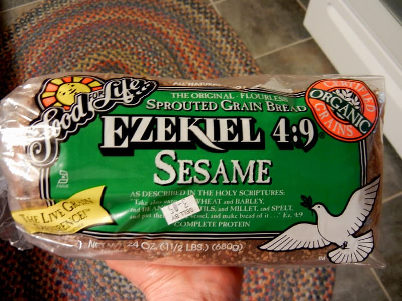 Soaking Beans and Grains ~ ByeBye Phytic Acid and Beano. A loaf of Ezekiel 4: 9 sprouted grain bread, also found at Trader Joe's