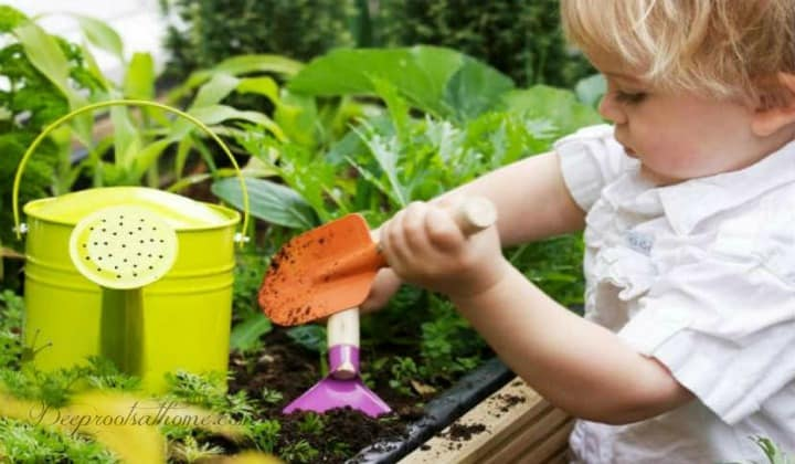 Are You Wired To Be Gardener? Finding Sanity In the Soil. A young child in a garden