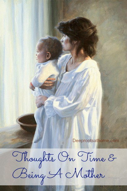 Thoughts On Time and Being A Mother. Thomas Kincaid painting
