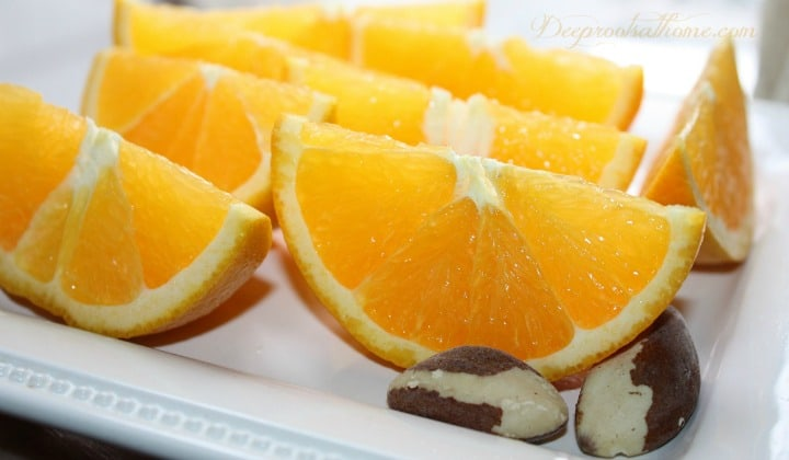 Cancer Preventative: Two Brazil Nuts a Day. oranges