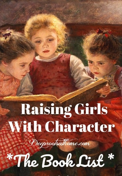 Character-Building Book Resources For Raising Girls, a painting of three sisters reading,