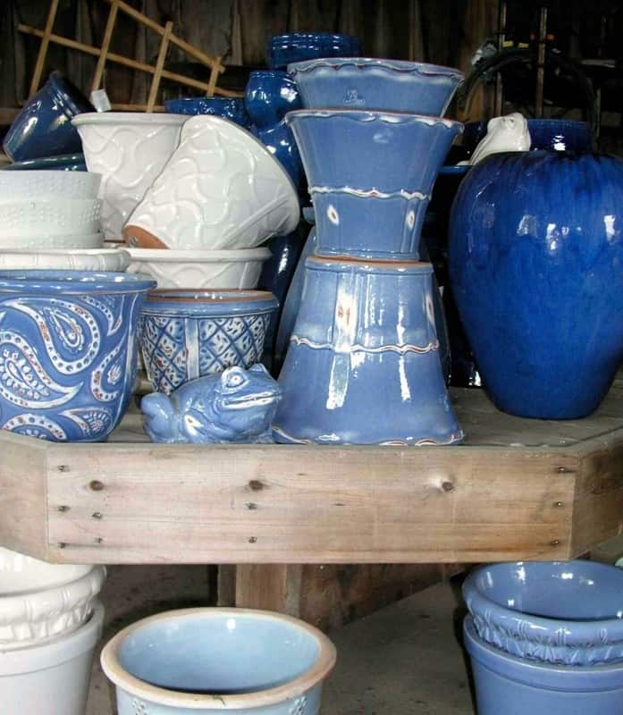 10 Garden Elements With Big Impact. blue porcelain pottery, containers, planters