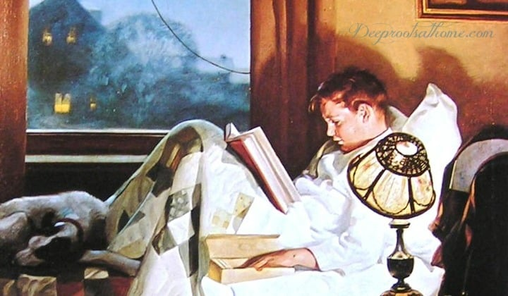 Character-Building Book Resources For Raising Boys, 'Crackers in Bed' - a painting by Norman Rockwell