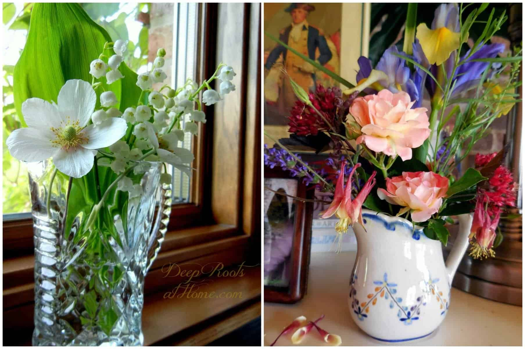 lily of the valley and mixed bouquet