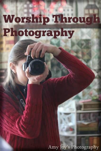 Worship Through Photography, woman with camera, focusing, shooting