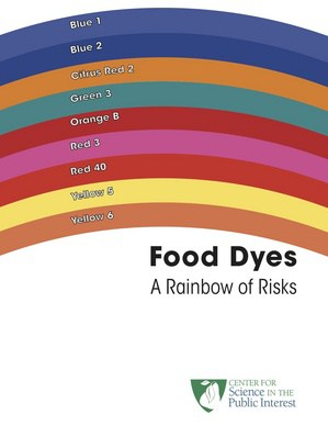 No Additive Kool-Aid Recipe: Kid-Approved, Happy Mom! Center for Science in the Public Interest food dye chart.