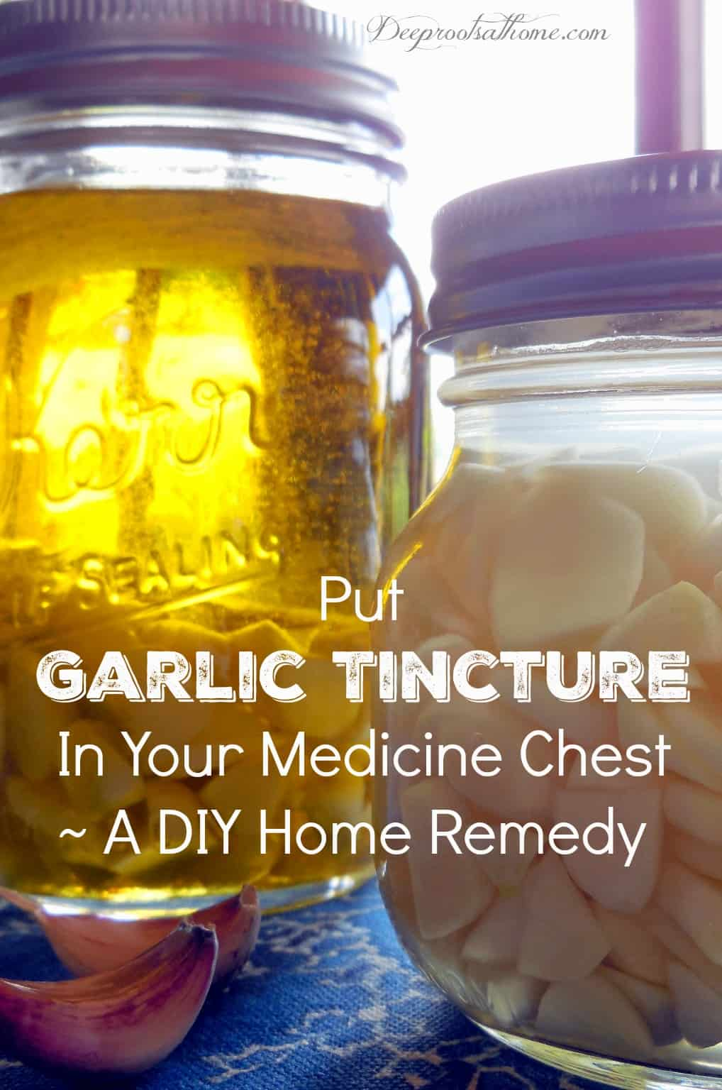 Put Garlic Tincture In Your Medicine Chest~ A DIY Home Remedy. 2 garlic tinctures - one in olive oil and the other in vodka.