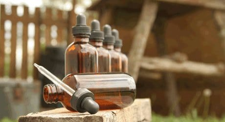 Put Garlic Tincture In Your Medicine Chest~ A DIY Home Remedy. amber tincture bottles, with dropper