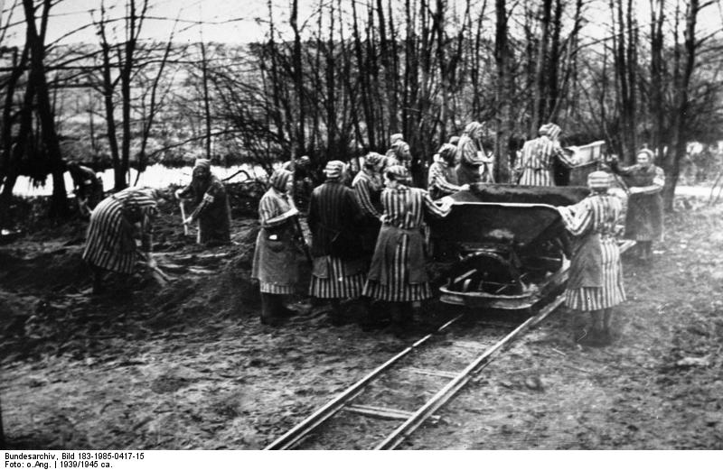 Ravensbruck concentration camp women working