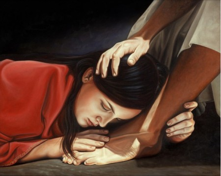 12 Powerful and Profound Reasons To Develop Prayer In Our Daily Lives. woman weeping on feet of Jesus