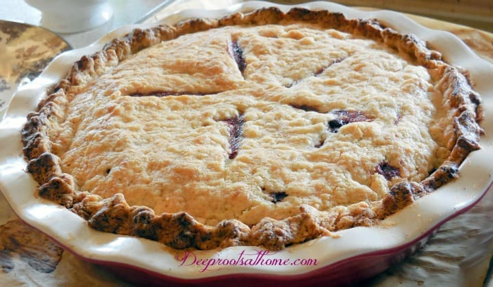 Aroniaberry Love & 6 Recipes: Cookies, Bars, Pie & More. A beautiful aroniaberry pie, fresh out of the oven.