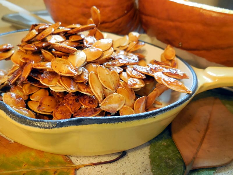 Don't Throw 'Em Out: 11 Super Food Benefits of Pumpkin Seeds. Honey-roasted pumpkin seeds