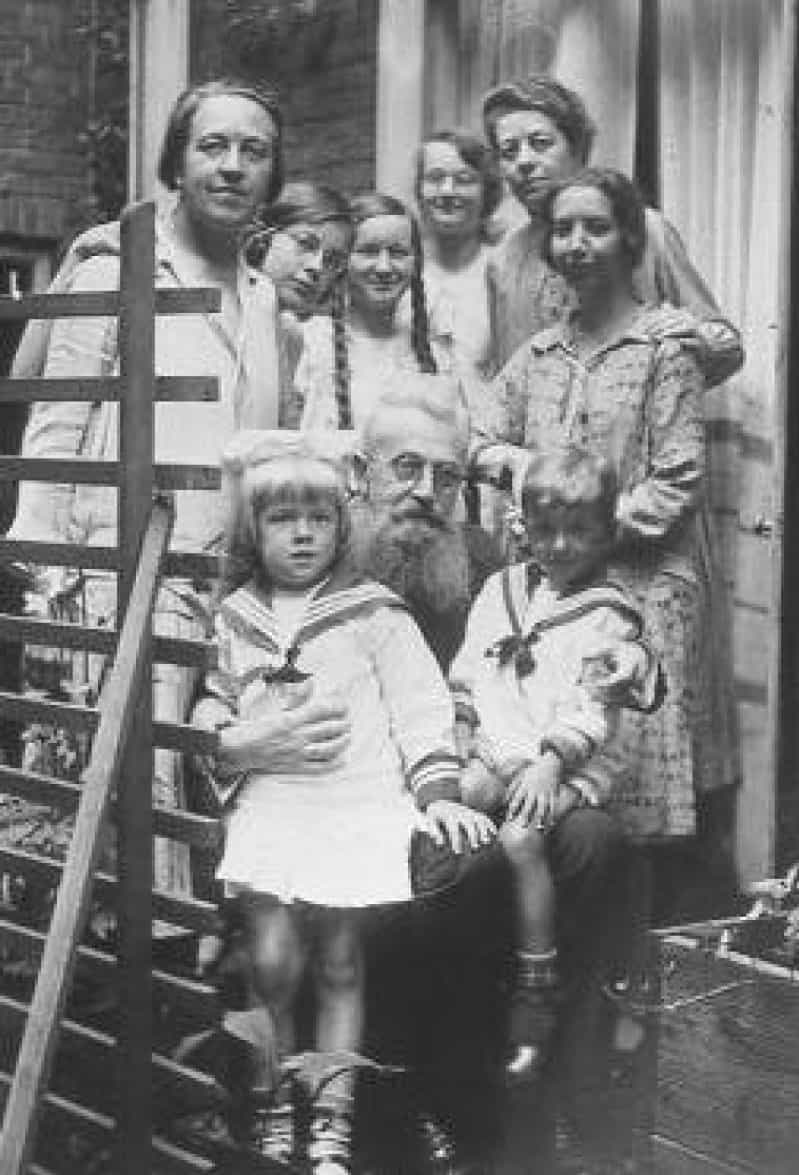Casper ten Boom Gives A Christmas Message For the Heart. Casper ten Boom, Corrie's father, with family and friends in a photo before the war