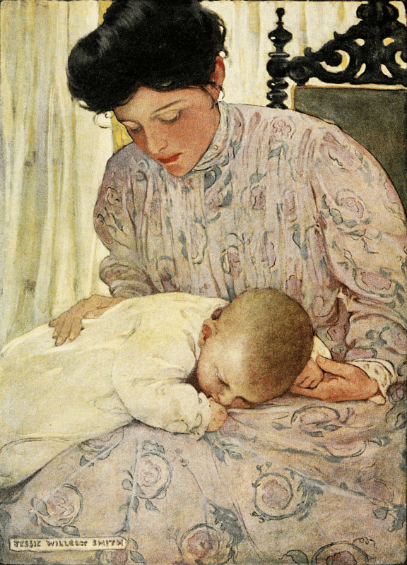 The Power Of A Rocking Mother - Mothers Rock! jessie willcox smith, painting