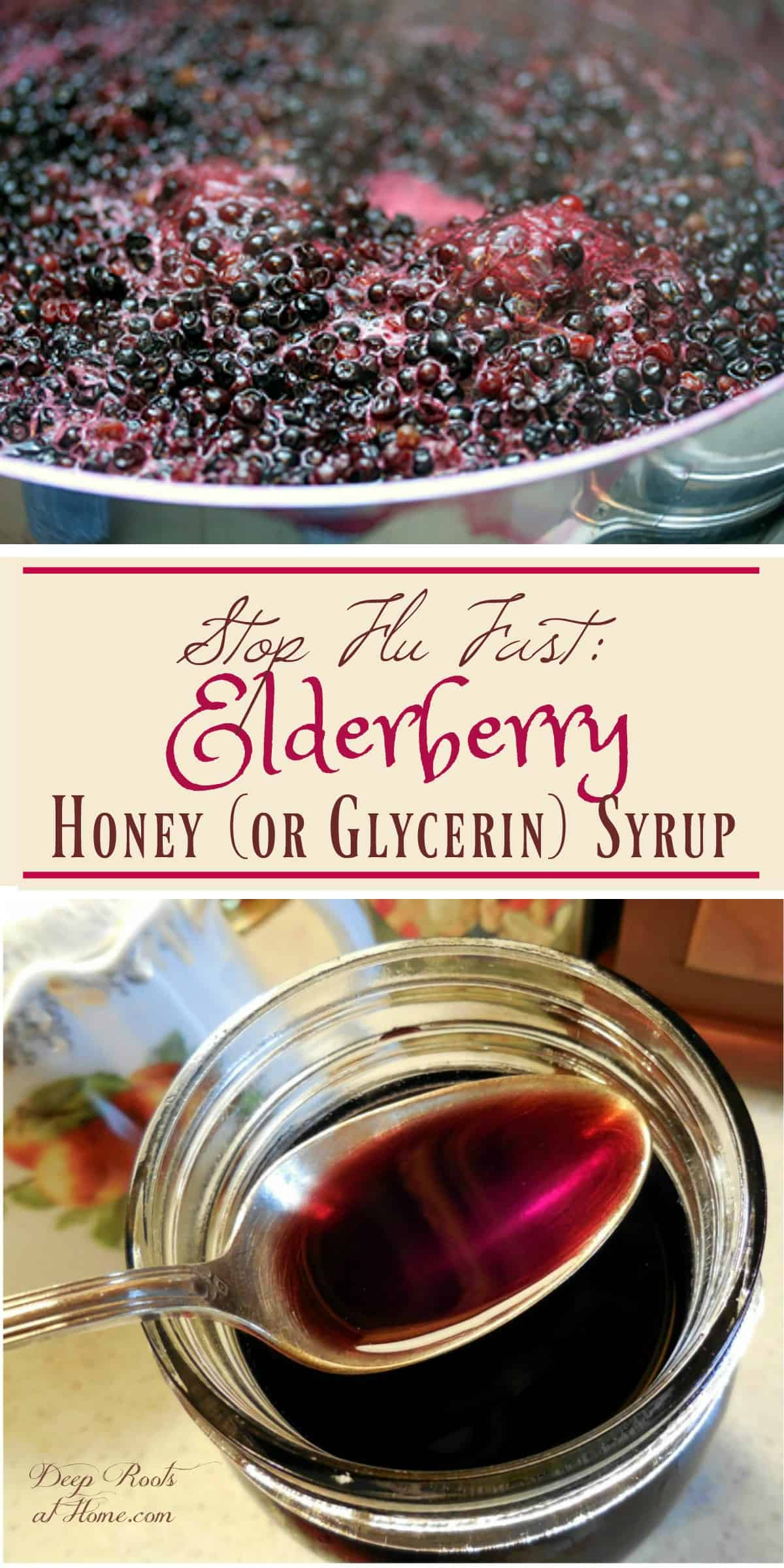 No Flu Shots 4 Us: We Use Elderberry Syrup (99% effective for H5N1)