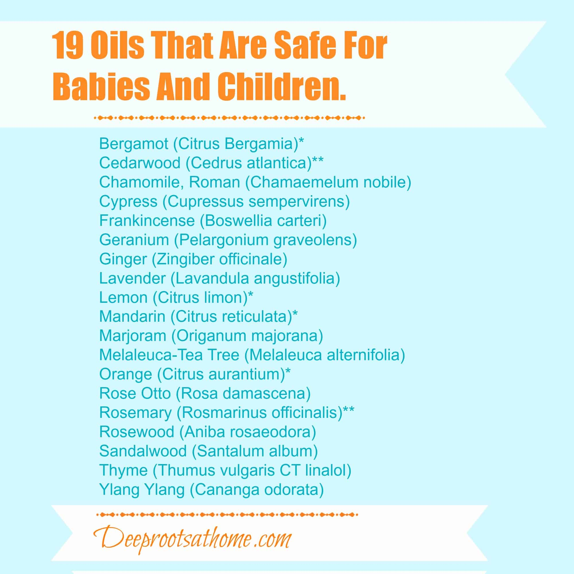 Oils that are safe
