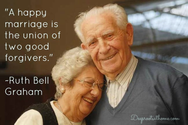 Asking Forgiveness: Love Language Of A Highly Fulfilling Marriage. An older man and woman laughing
