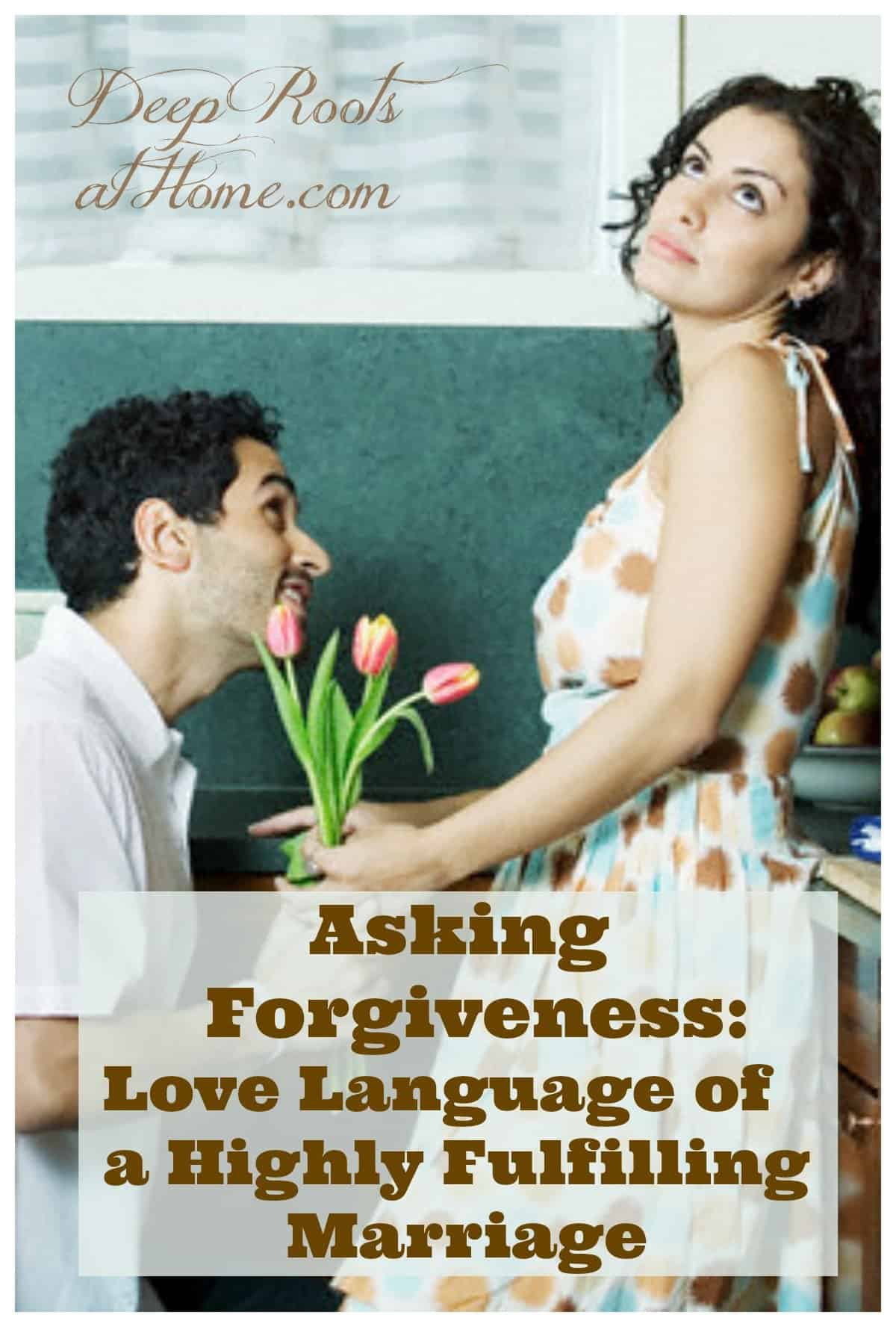 Asking Forgiveness: Love Language Of A Highly Fulfilling Marriage. A couple making up