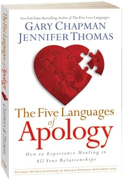 Asking Forgiveness: Love Language Of A Highly Fulfilling Marriage. Dr. Gary Chapman's The Five Languages of Apology
