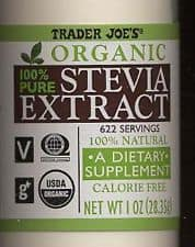 Make Your Own {Non-Processed} Stevia Extract {& Why I Do It}. Trader Joe's 100% powdered sweetener