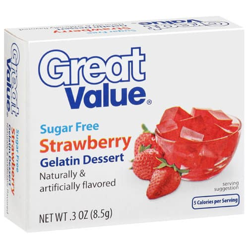 50+ Aspartame-Containing Products To Avoid. Great Value gelatin dessert