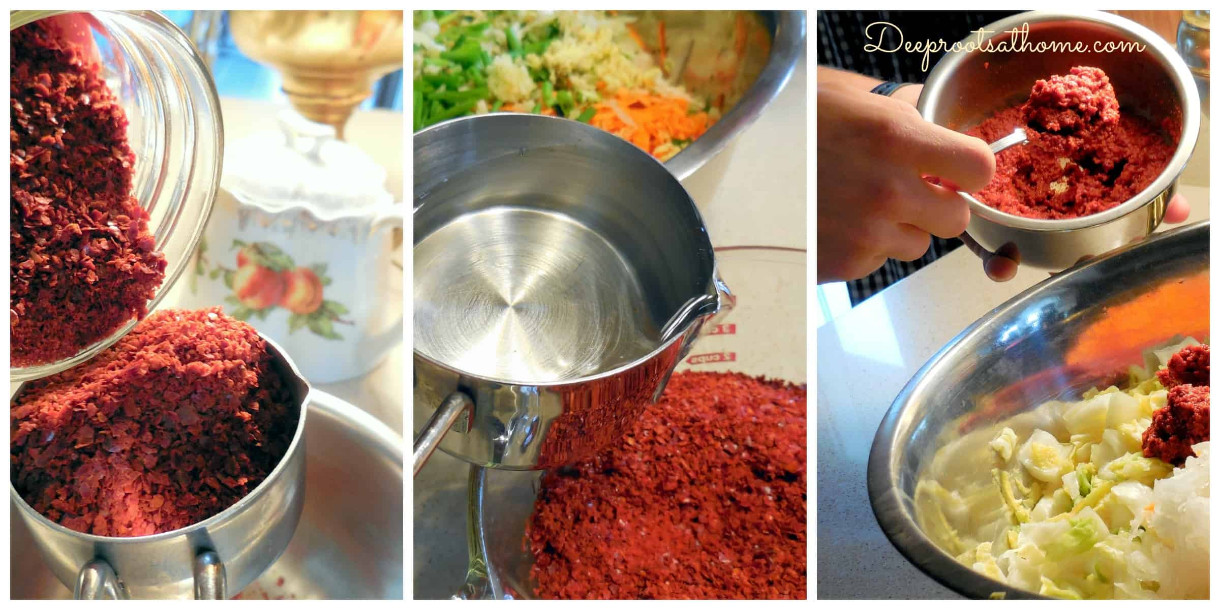 5 Elements To Making Authentic Basic Fermented Kimchi. red pepper flakes