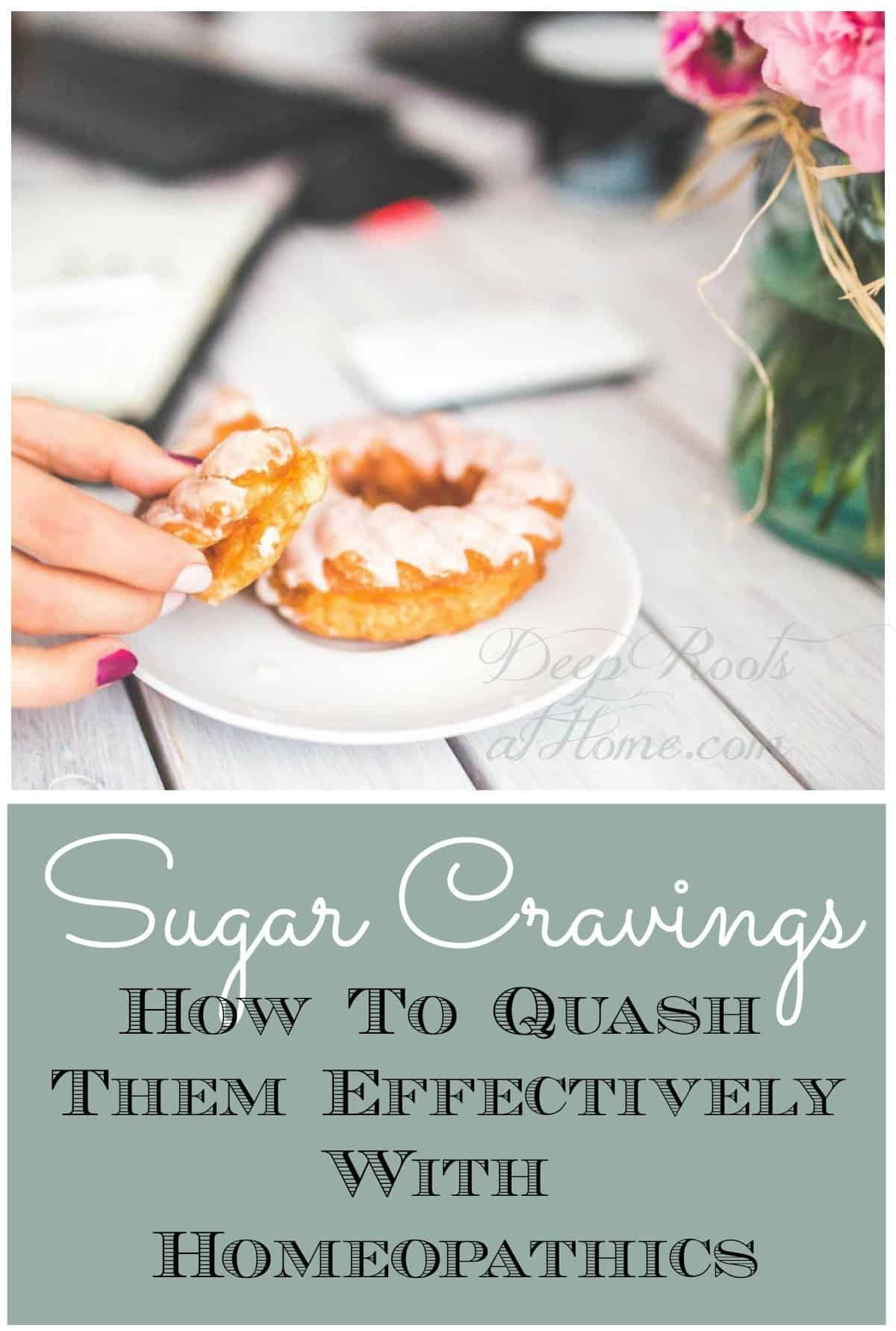 Sugar Cravings & How To Quash Them Effectively With Homeopathy. woman with a donut in hand